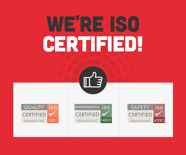 We're ISO Certified